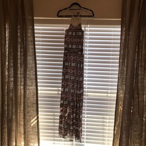 Lucky Brand patterned maxi dress